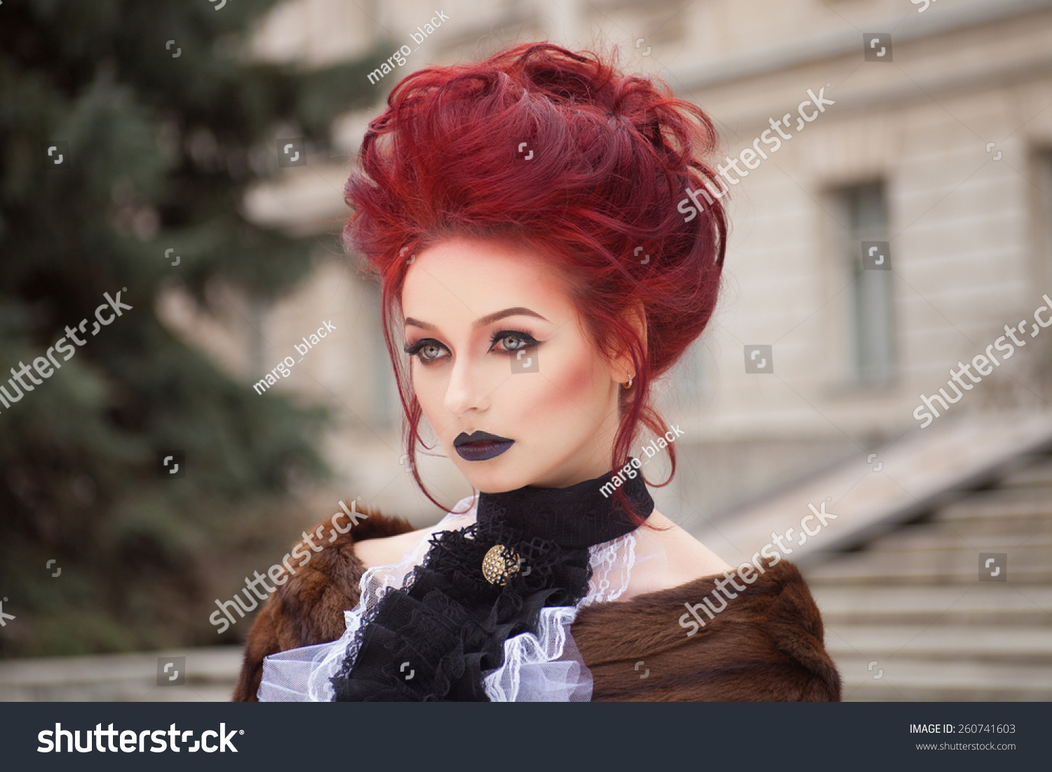 Fashion style Makeup red Gothic for girls