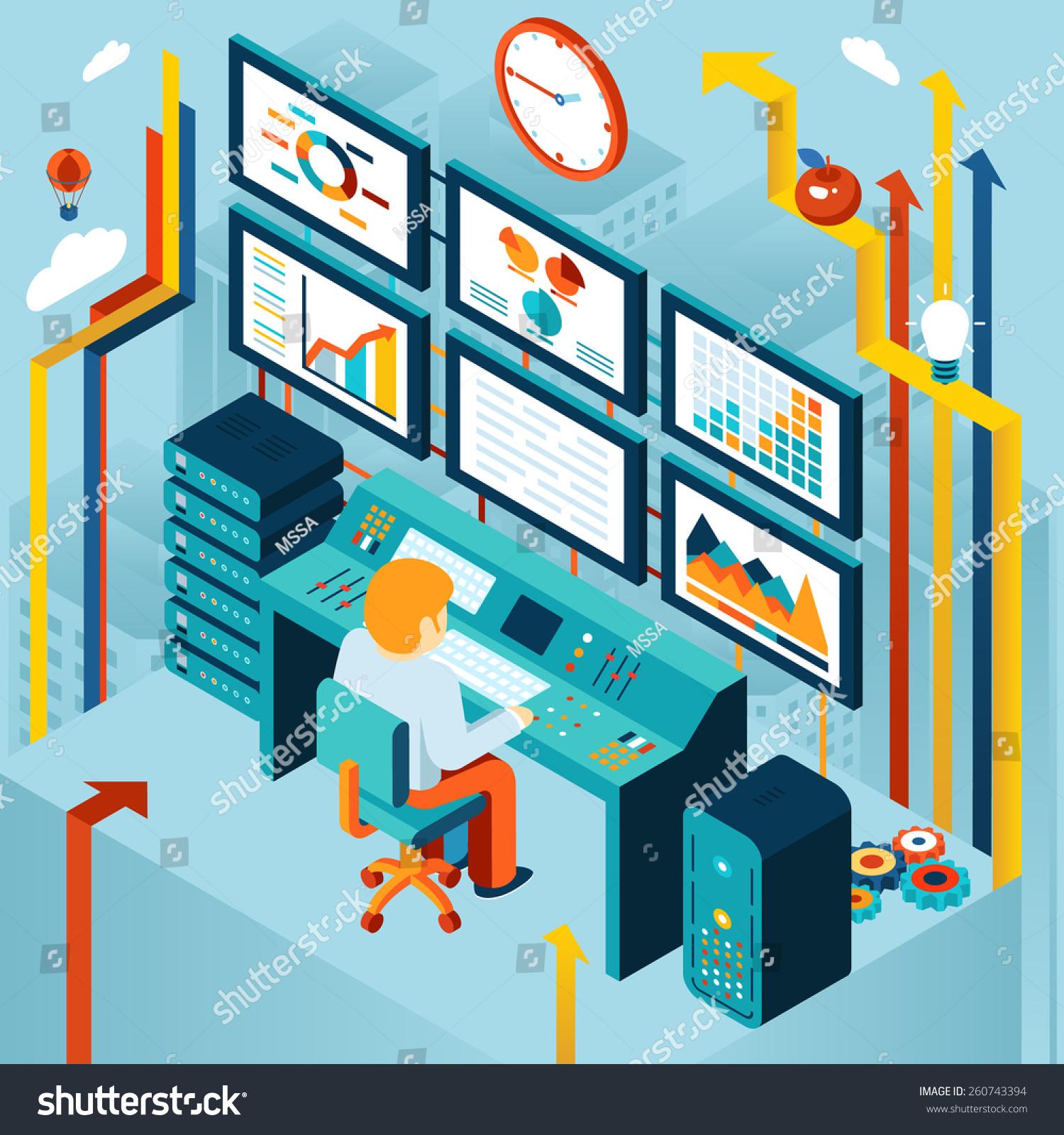 Financial Analytics Business Analysis Concept Development Stock ...