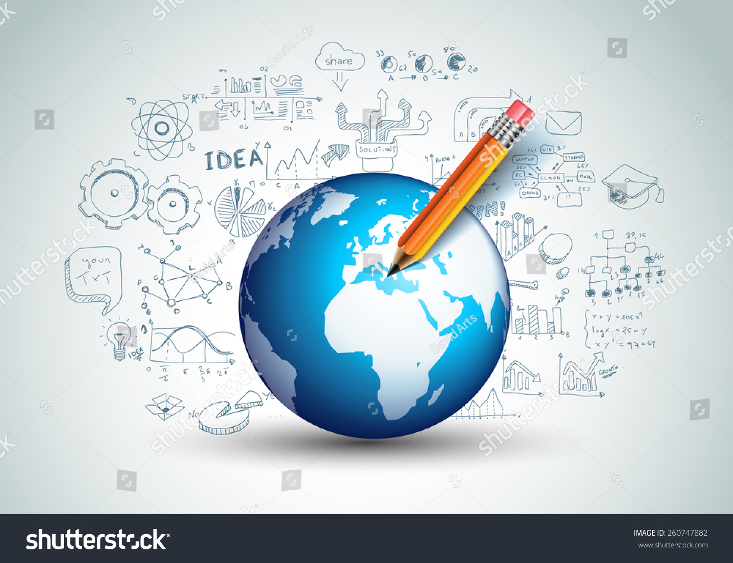 Idea Concept Layout Brainstorming Infographic Background Stock ...