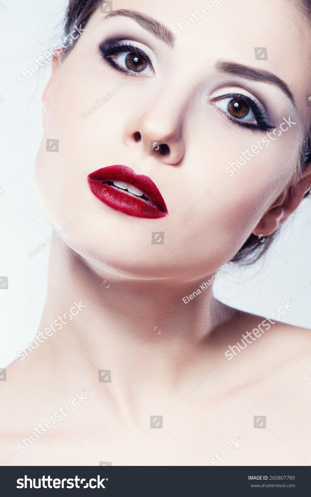beauty girl face make - photo #16