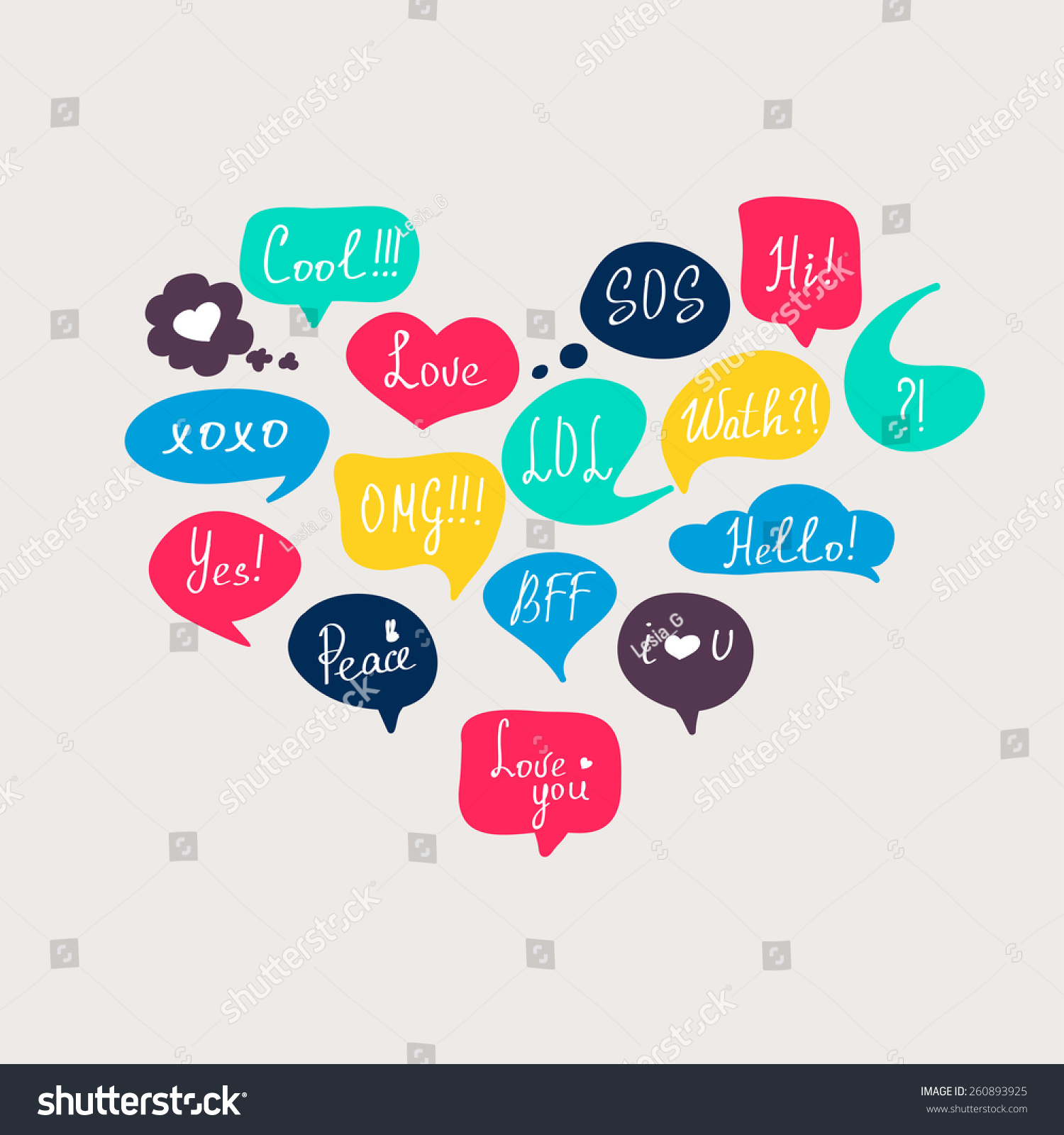 Colorful questions speech bubbles set flat stock vector for Decor questions