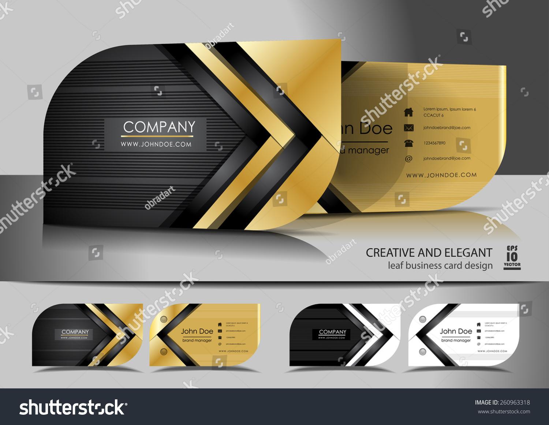 Creative Leaf Business Card Design Stock Vector 260963318 ...