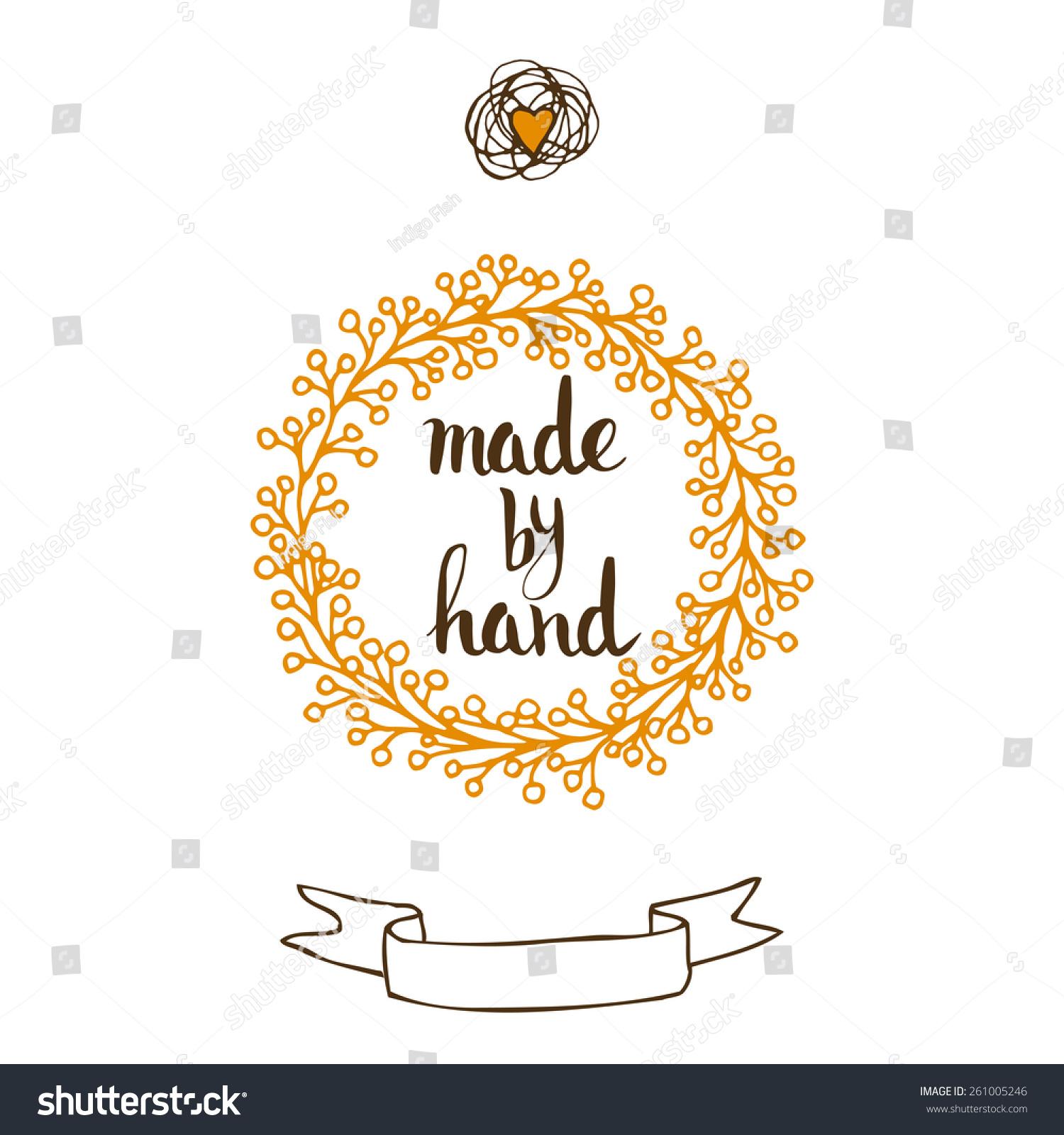 Handmade original custom hand lettering stock