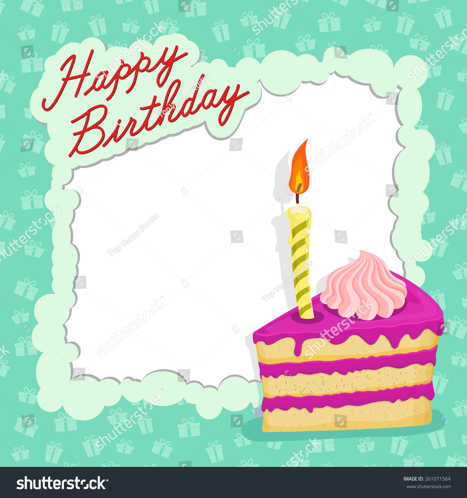 template happy birthday card place text stock vector hd royalty