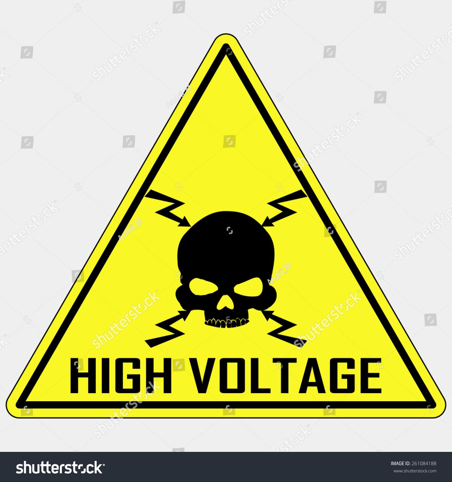 High Voltage Symbol : Danger high voltage sign electrical stock vector