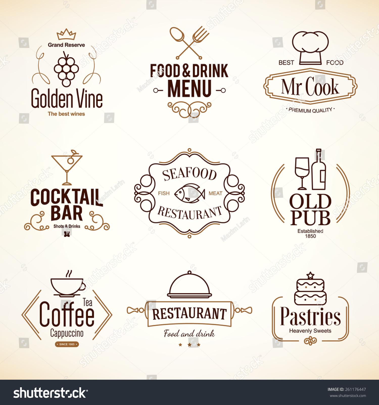 Vintage logotypes labels design logo set stock vector