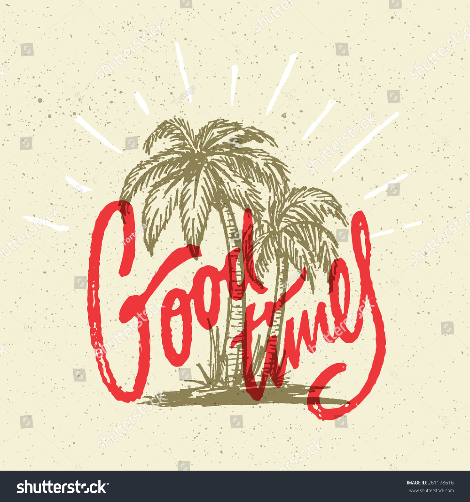 T-shirt design handmade - Good Times Summer Positive Hand Crafted Vintage Original T Shirt Graphic Design Handmade Retro Styled
