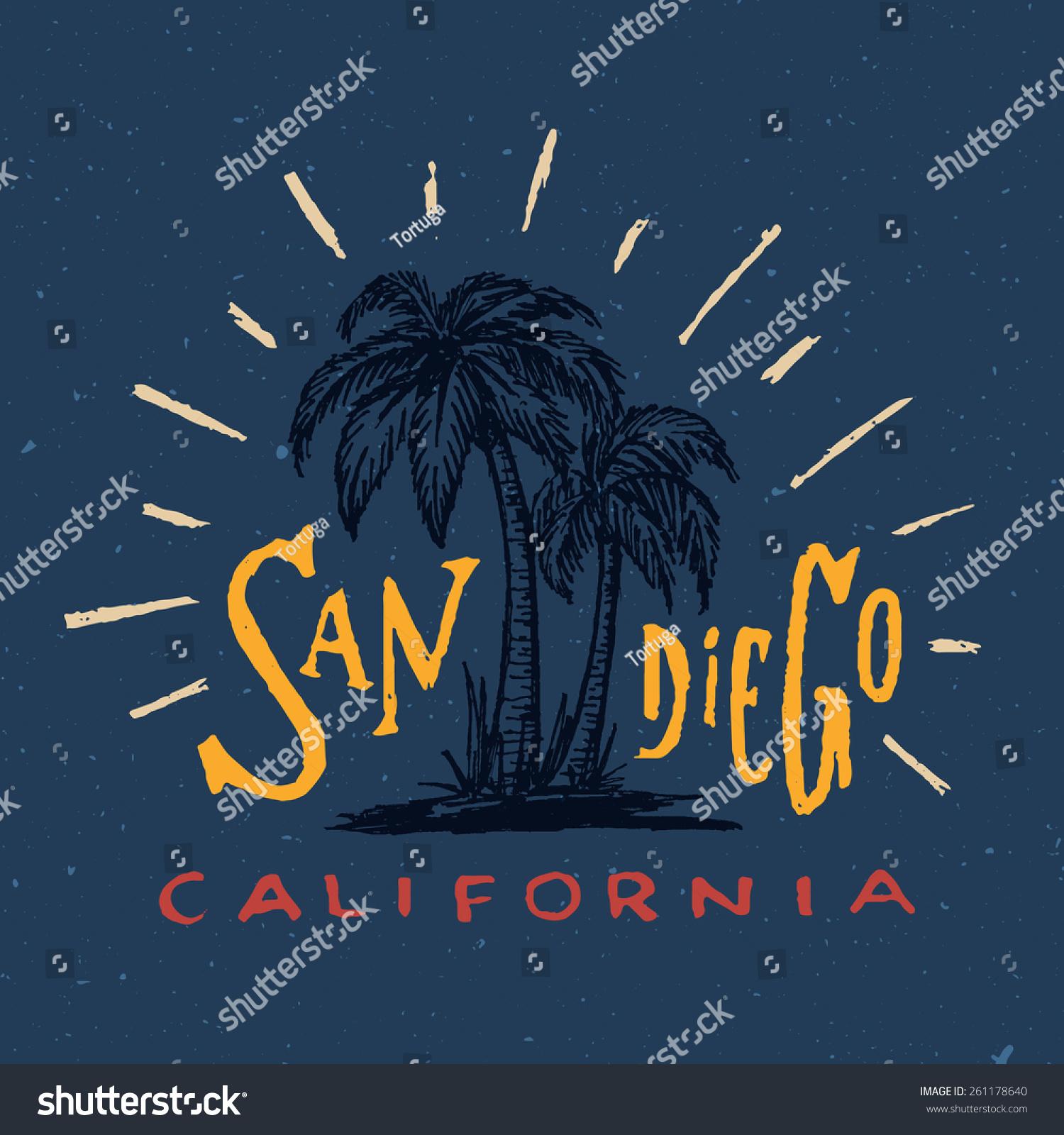 Shirt design san diego - San Diego T Shirt Graphic Vintage Apparel Fashion Tee Design Retro Urban Youth Textured