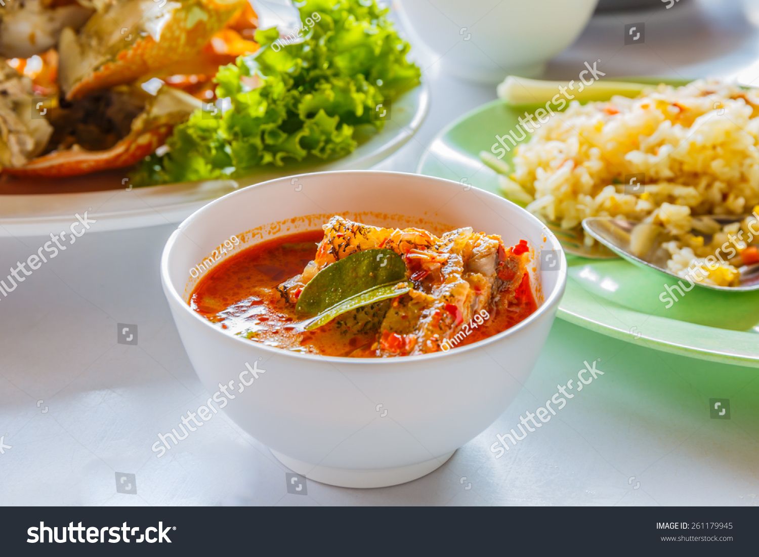 Spicy fish soup stock photo 261179945 shutterstock for Spicy fish soup