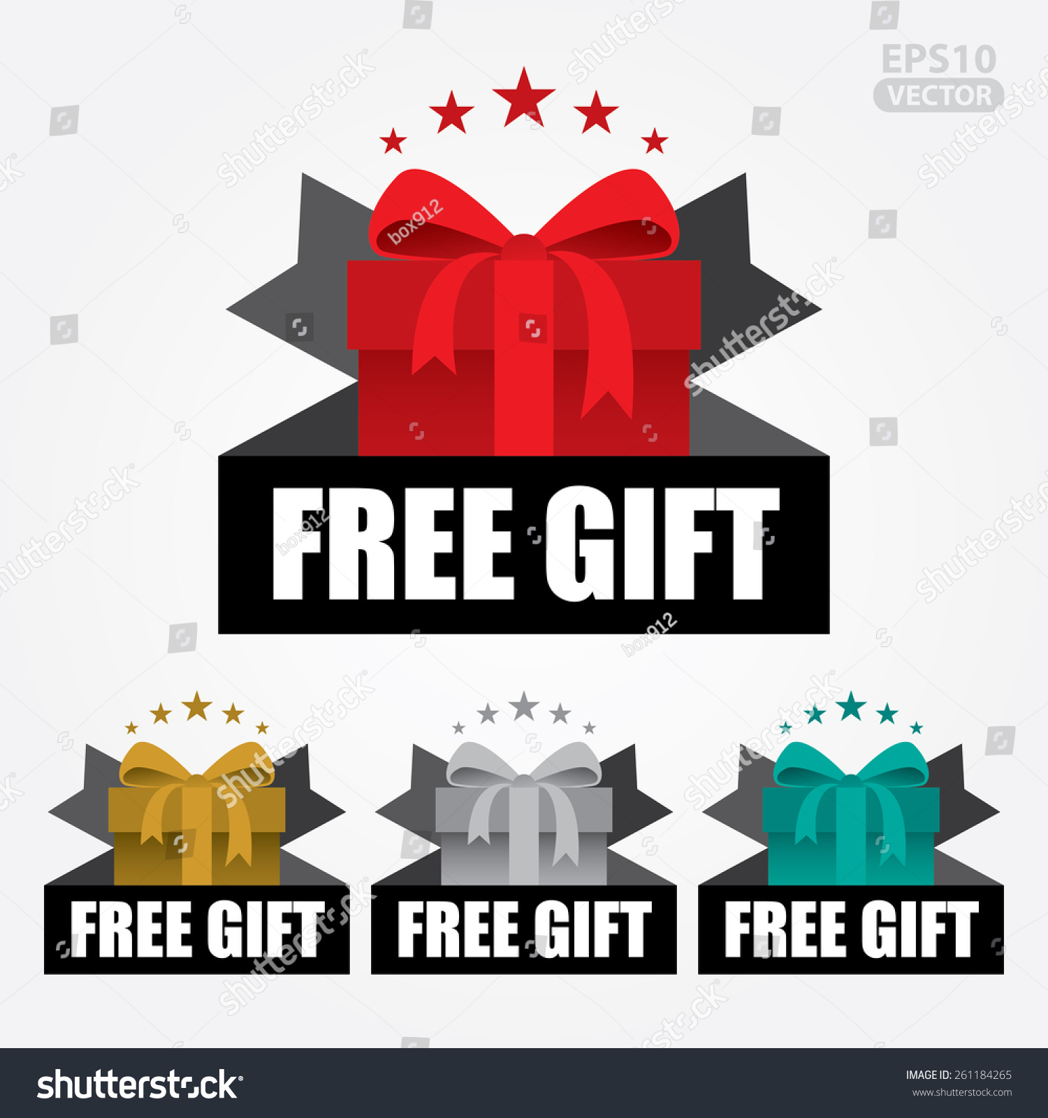 Free gift sign tag vector 261184265 shutterstock free gift sign and tag vector negle Images