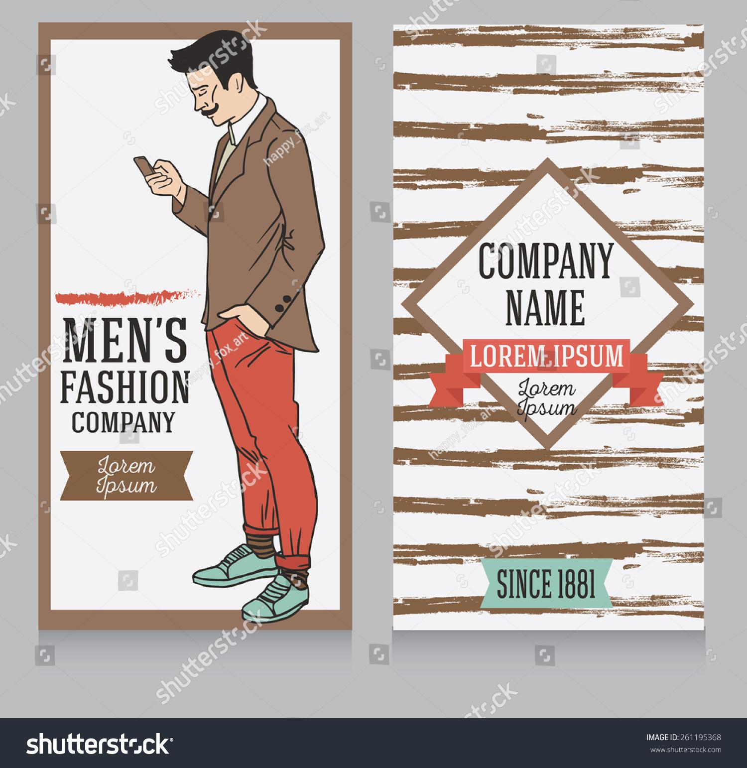 Advertising Banner Retro American Style Trendy Stock Vector ...