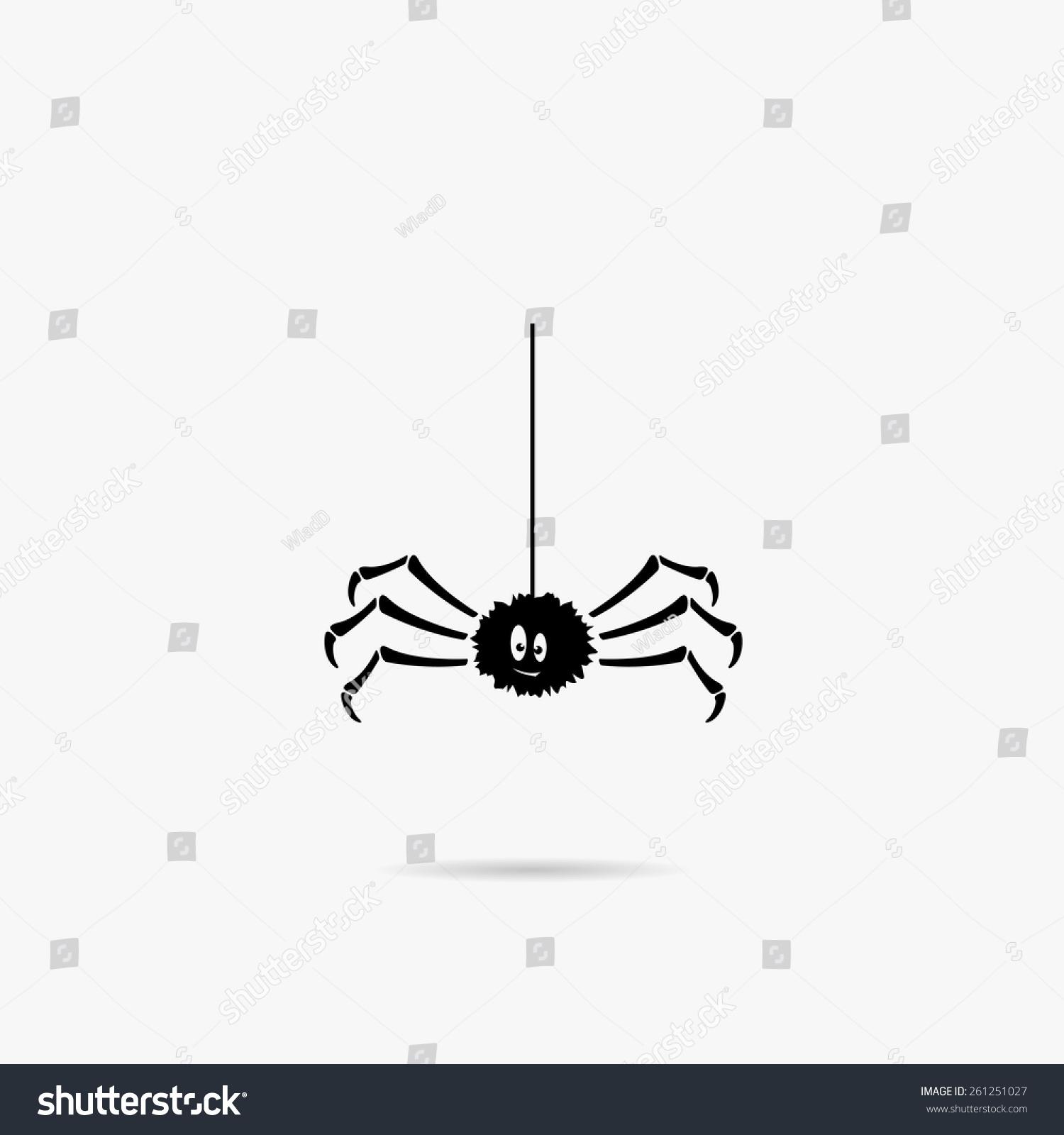 simple icon cartoon spider stock vector 261251027 shutterstock