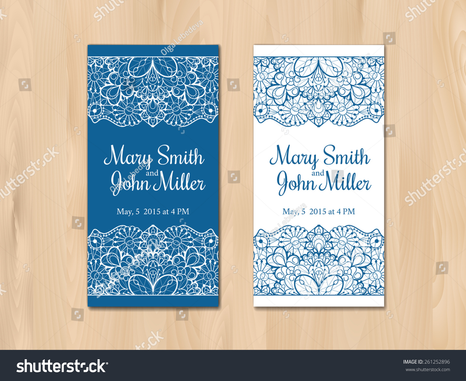 Wedding Invite Card Stock: Wedding Invitation Card Template Vintage Lace Stock Vector