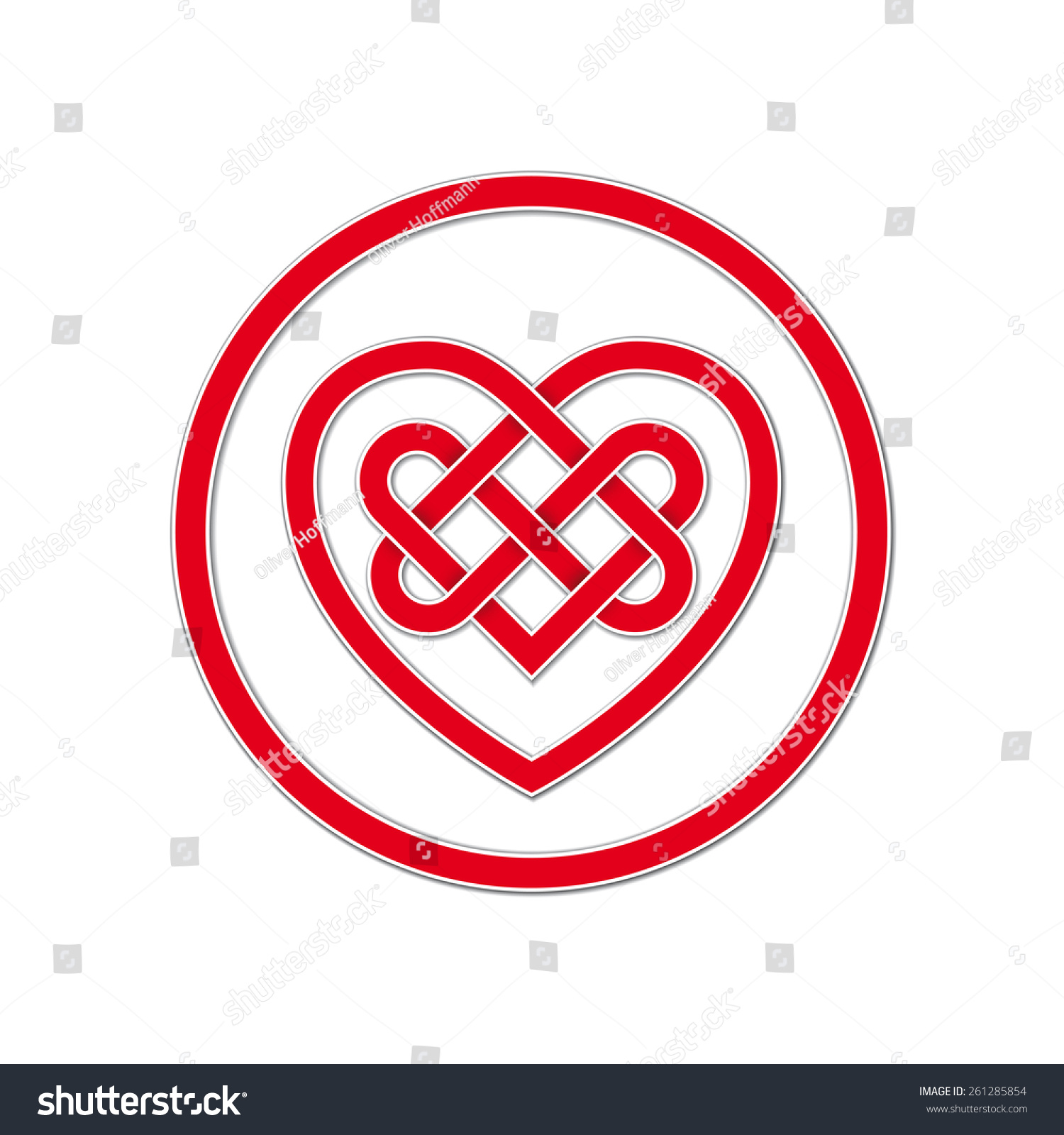 Celtic knot symbol eternal love vector stock vector 261285854 celtic knot symbol of eternal love vector illustration of red heart shaped celtic knot with biocorpaavc Gallery