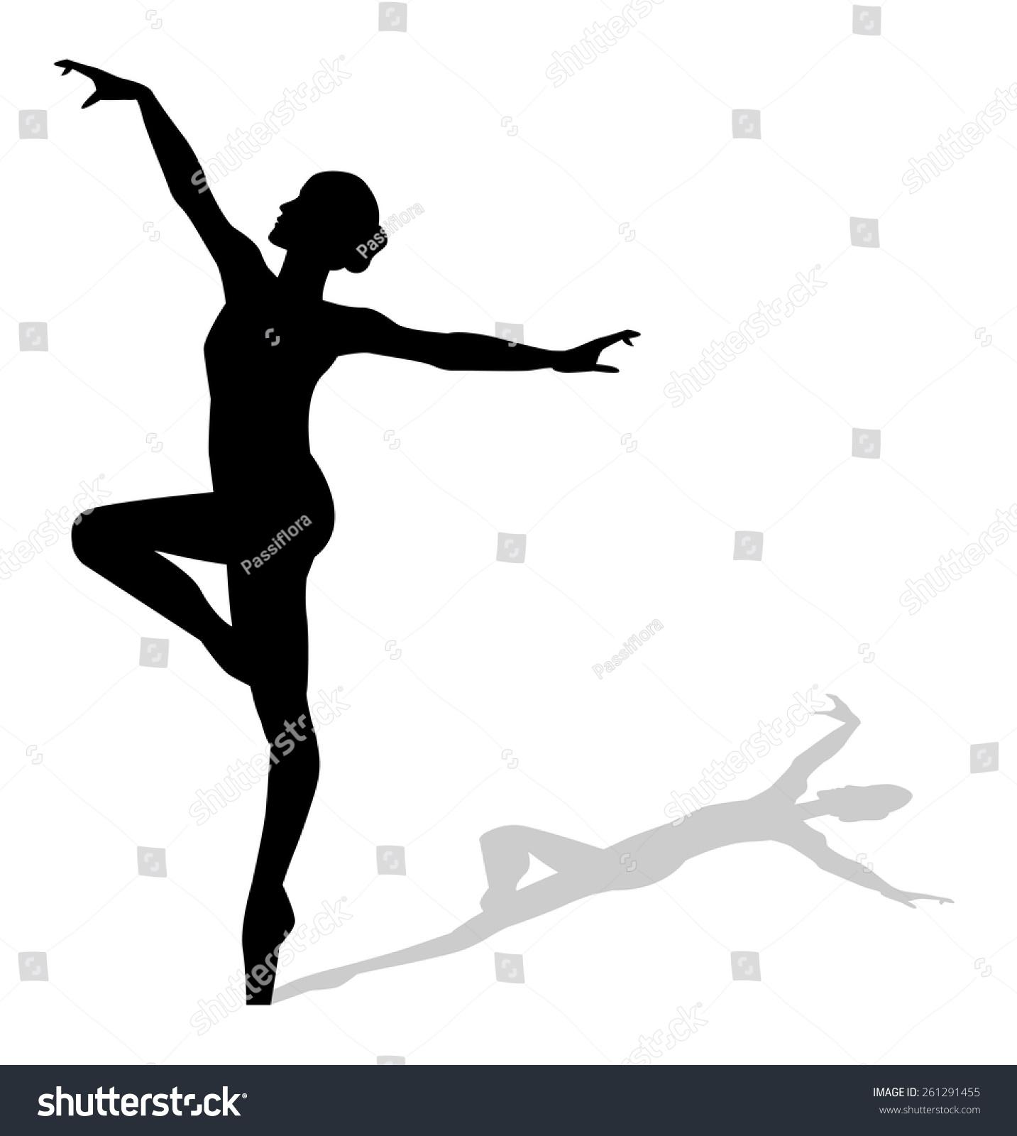 dancer silhouette stock vector 261291455 shutterstock jazz dancer silhouette vector dance silhouette vector