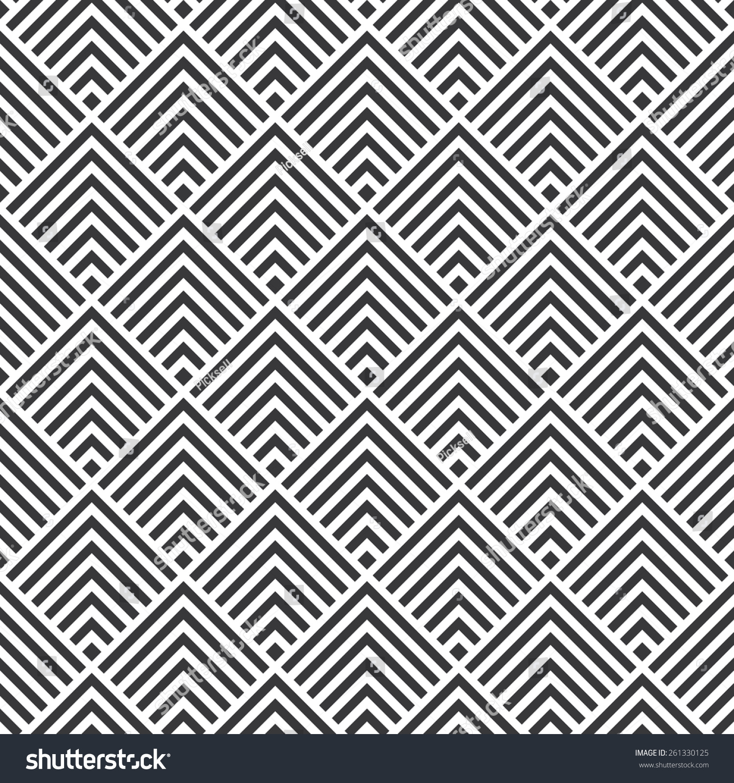 seamless art deco square chevrons pattern stock vector 261330125 shutterstock. Black Bedroom Furniture Sets. Home Design Ideas