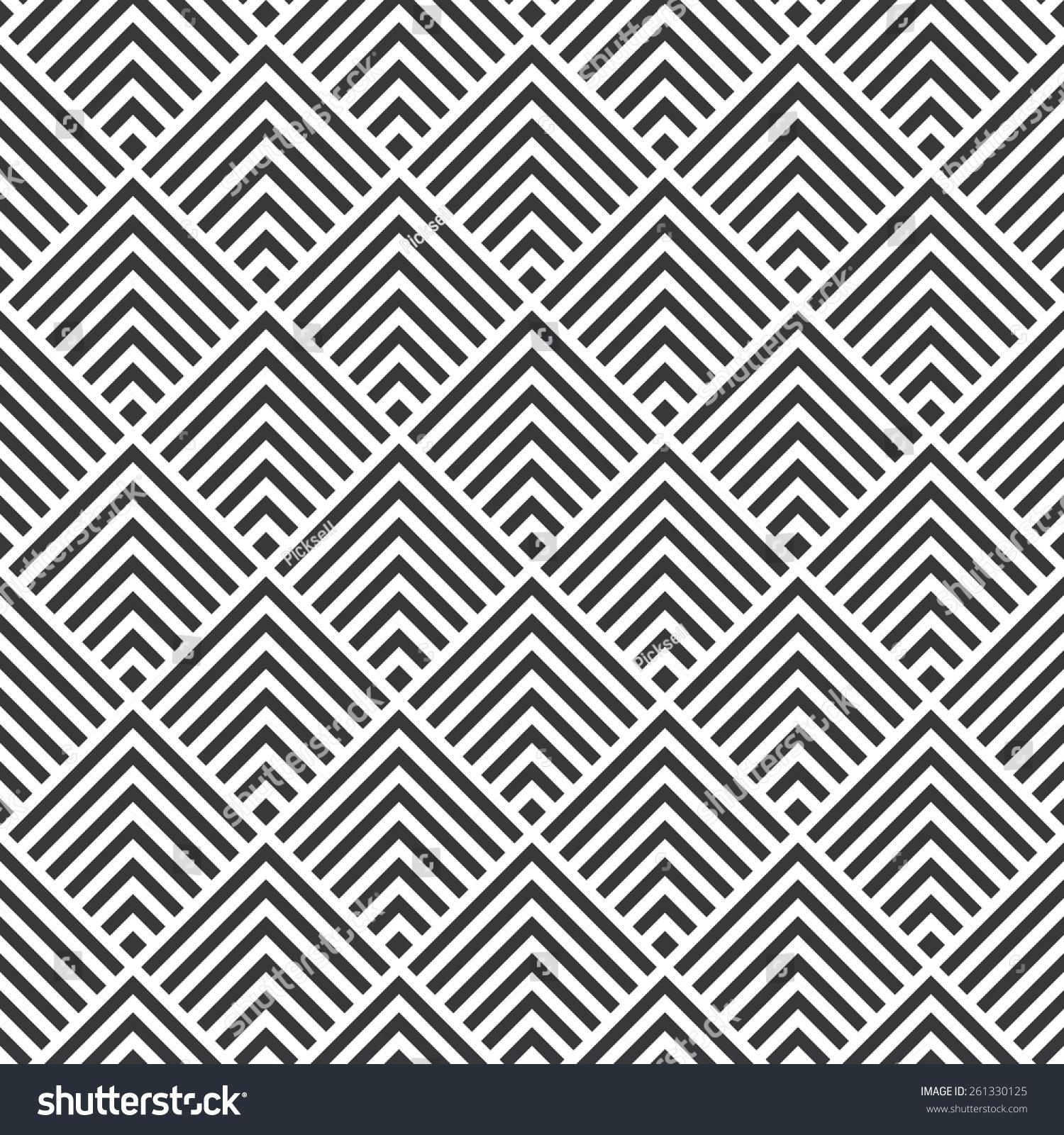 seamless art deco square chevrons pattern stock vector 261330125 shutterstock. Black Bedroom Furniture Sets. Home Design Ideas