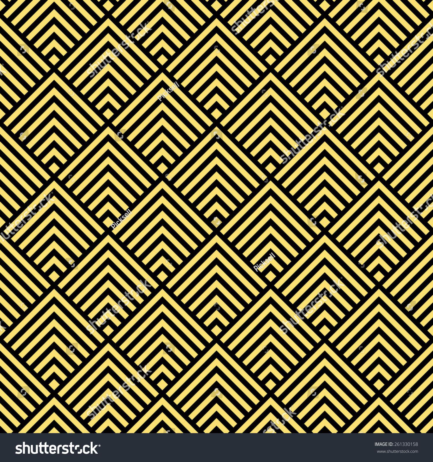 seamless black gold art deco square stock illustration 261330158 shutterstock. Black Bedroom Furniture Sets. Home Design Ideas