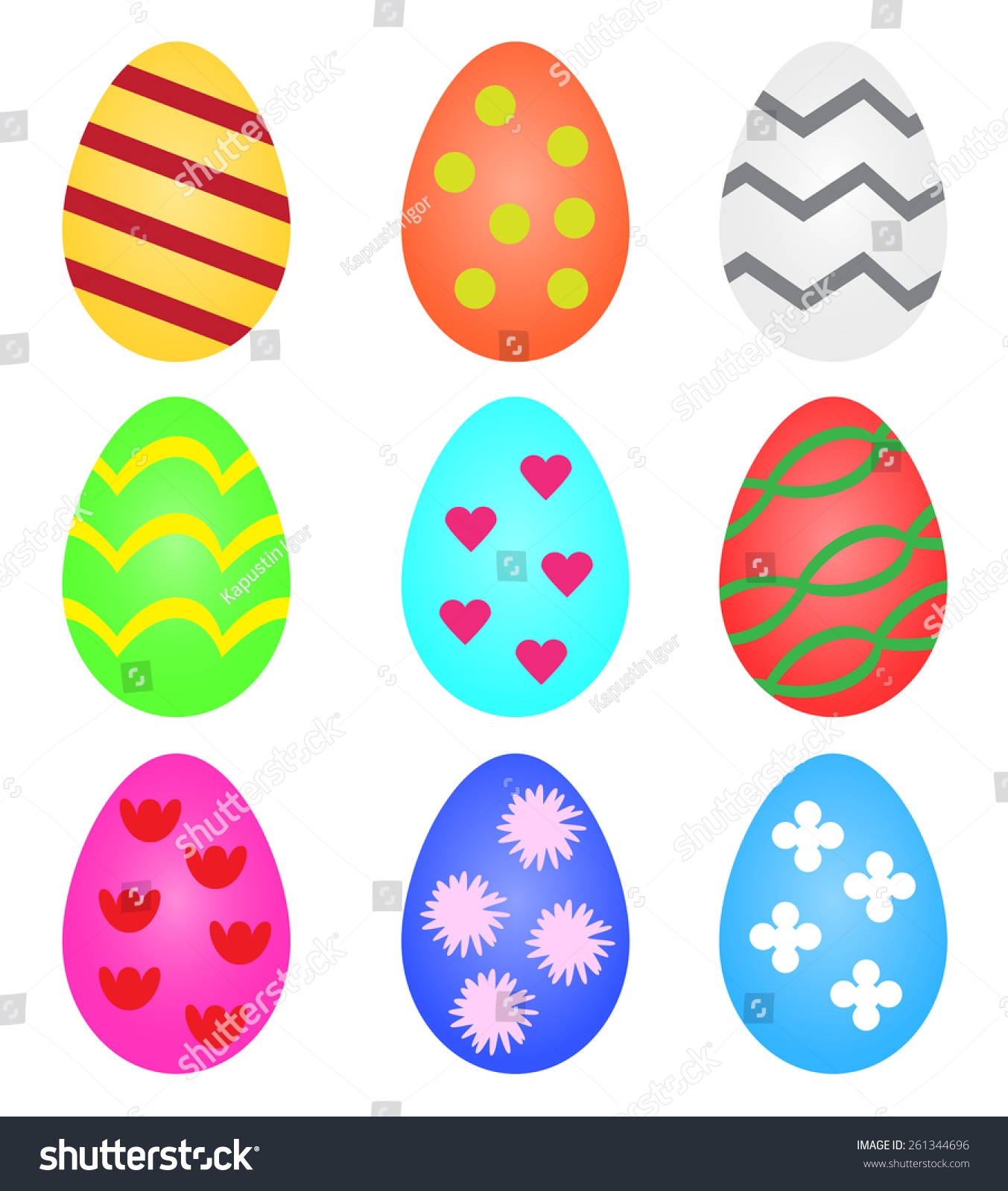 templates easter eggs patterns stock vector 261344696 shutterstock
