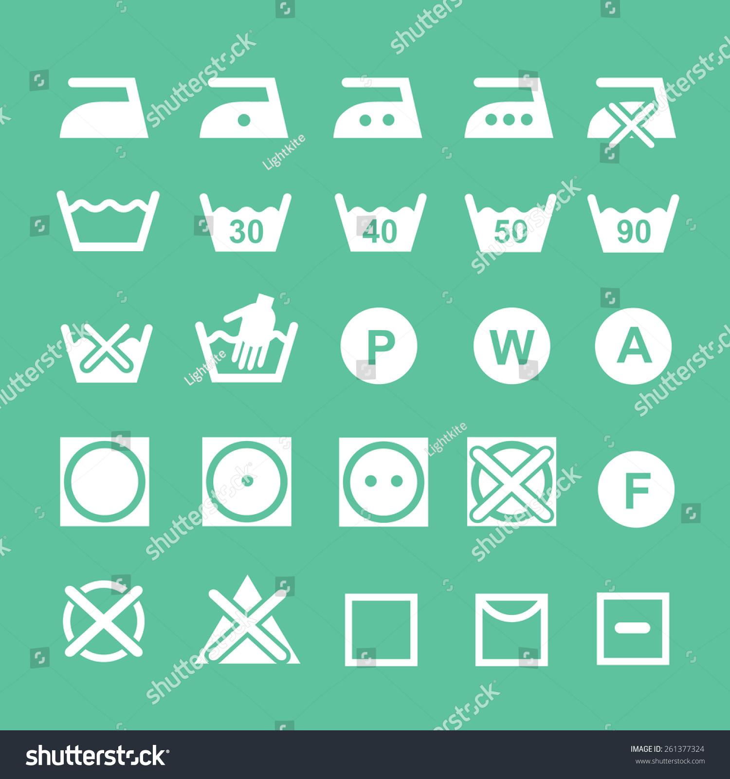 Set washing symbols washing instruction symbols stock vector set of washing symbols washing instruction symbols bleaching and ironing instruction dry clean icon buycottarizona