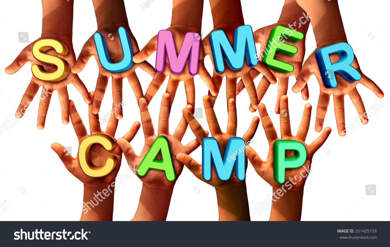 Summer Camp Kids Diverse School Children Stock Photo ...
