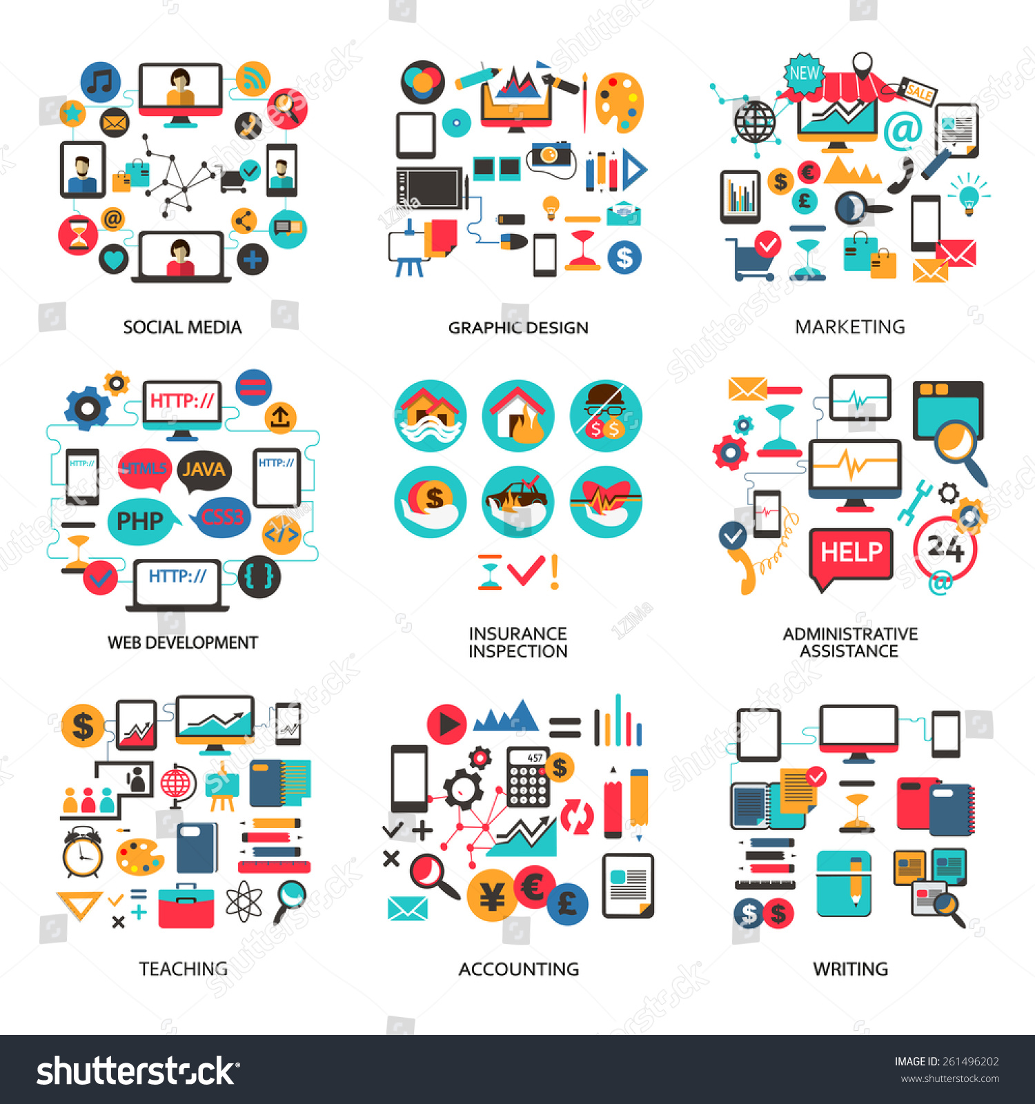 set elements lance job career stock vector 261496202 set of elements for lance job career