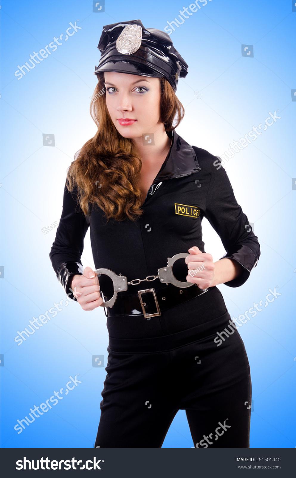 女警察用手铐白色