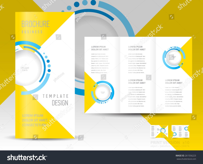 circle brochure template - brochure design template abstract circles stock vector