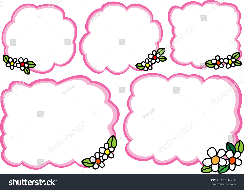 Pink Border Flowers Stock Vector 261566276 Shutterstock