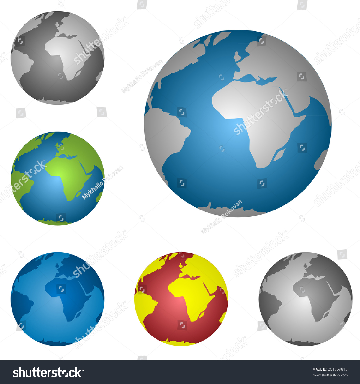 World map globe icon set vector stock vector 261569813 shutterstock world map globe icon set vector illustration gumiabroncs Gallery
