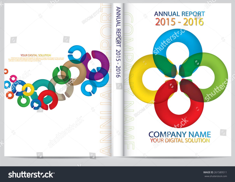 annual report cover design stock vector 261589511 shutterstock annual report cover design
