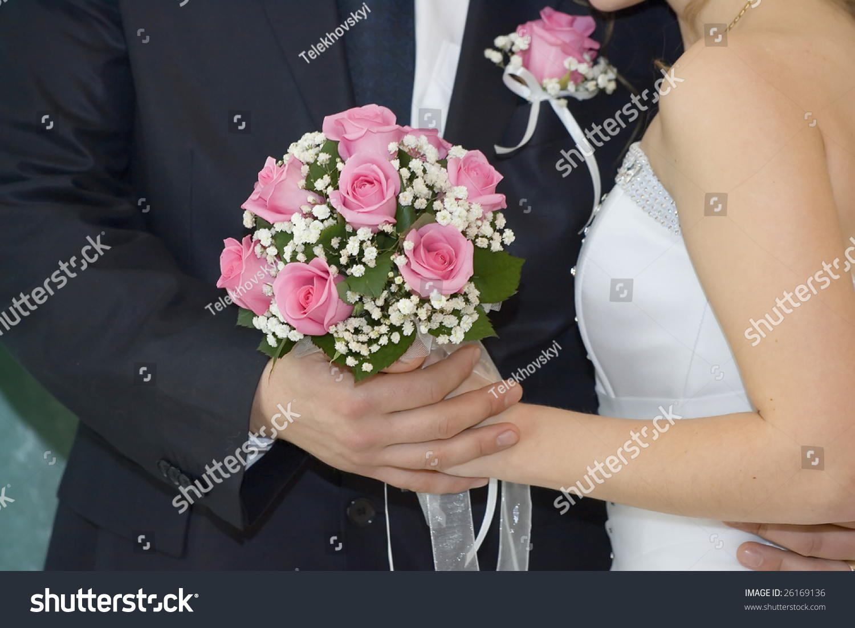 Rose Flowers Wedding Bouquet Hands Bride Stock Photo Edit Now