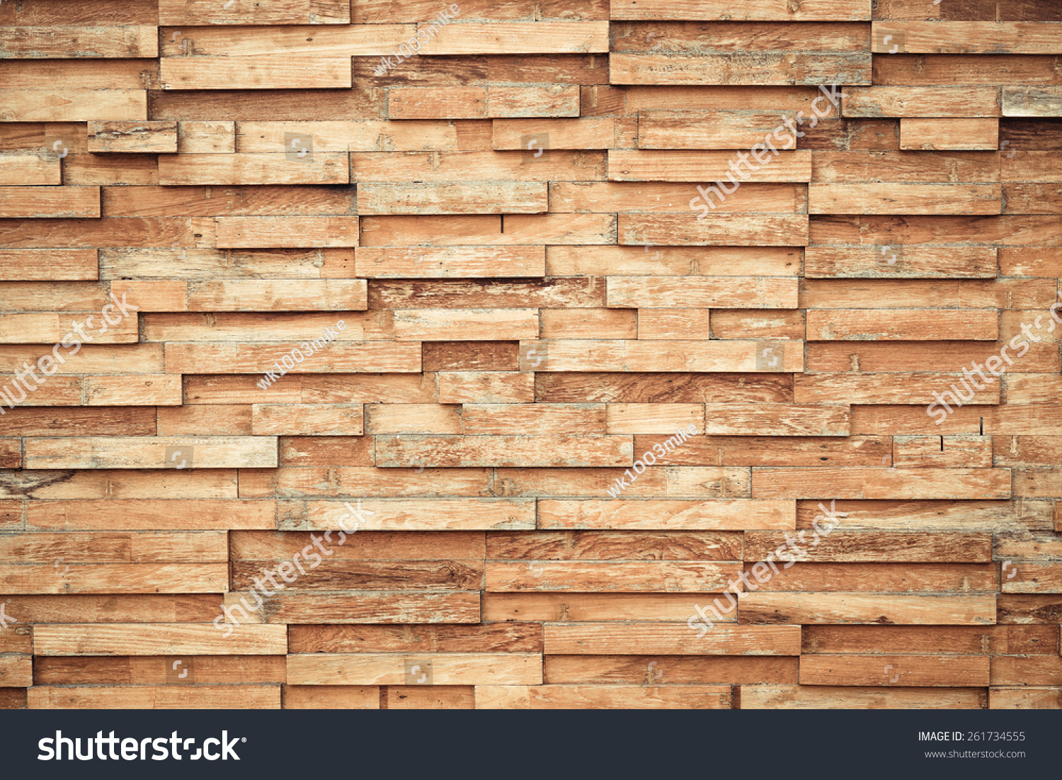 Layered Wood Plank Wall Decoration Stock Photo (Royalty Free ...