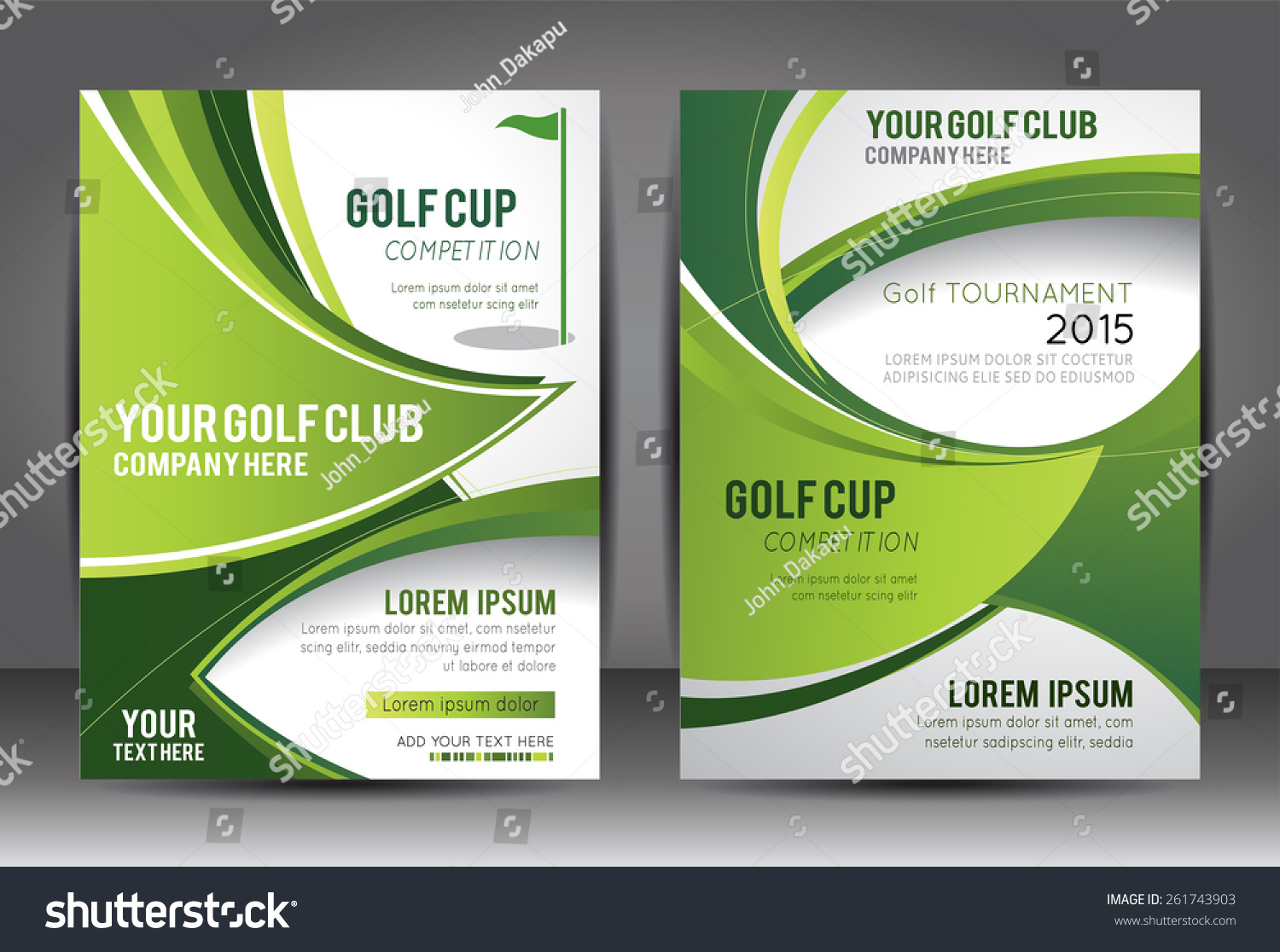 Golf Flyer Magazine Cover Template Vector Stock Vector Royalty Free