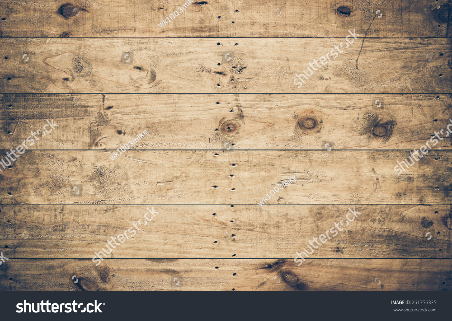 Old Ans Dirty Wood Plank Wall Stock Photo (Royalty Free) 261756335 ...