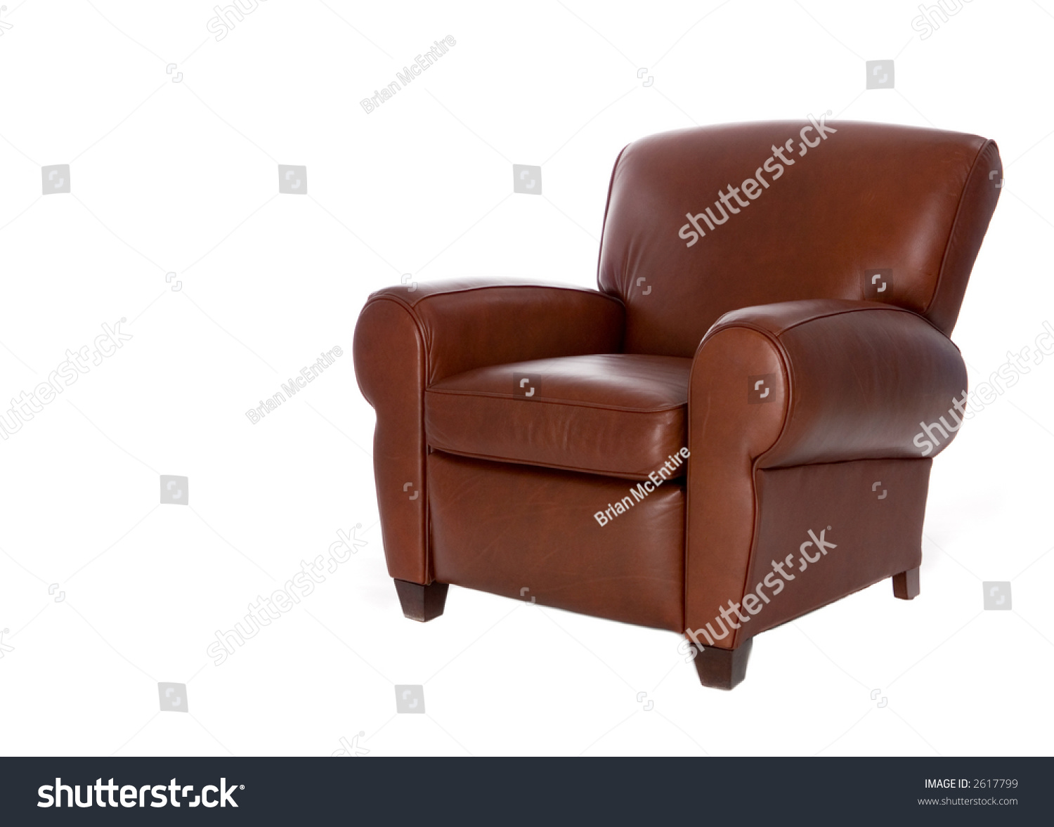 Modern Sleek Leather Recliner Chair Isolated Royalty Free
