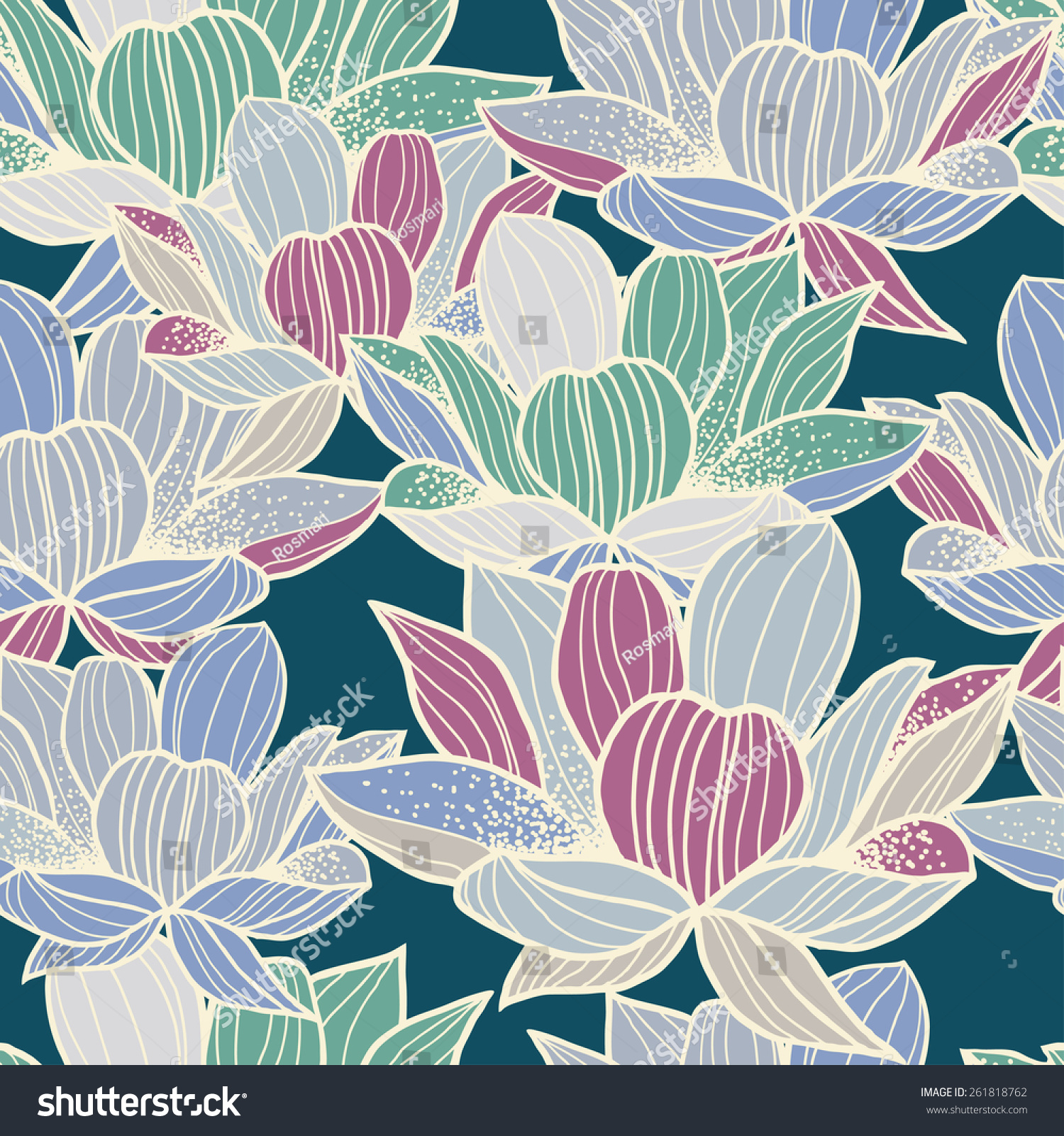 Graphically beautiful lotus flower pattern on stock vector royalty graphically beautiful lotus flower pattern on green background vector izmirmasajfo