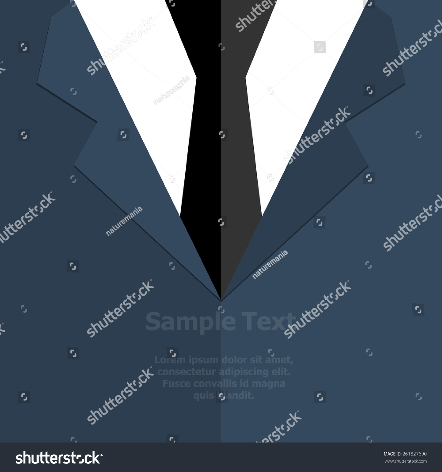 suit tie vector illustration stock vector 261827690