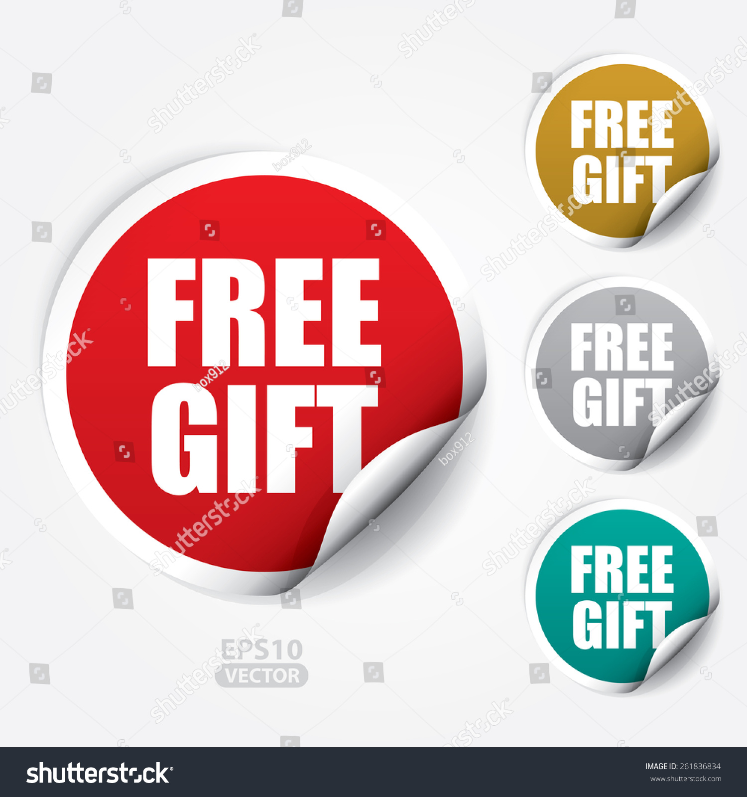Free gift sticker tag vector 261836834 shutterstock free gift sticker and tag vector negle Images