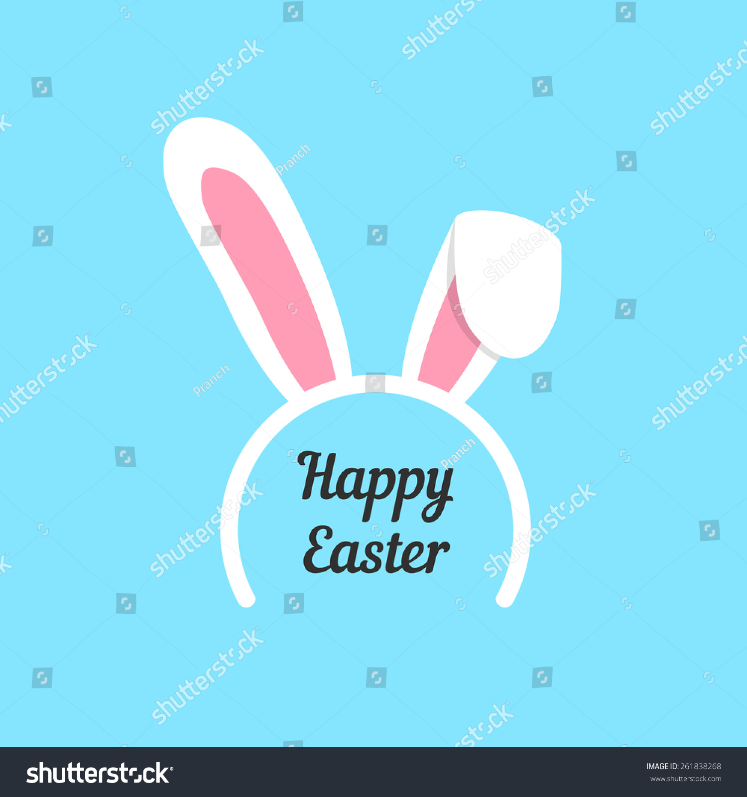 happy easter rabbit ears mask concept stock vector royalty free
