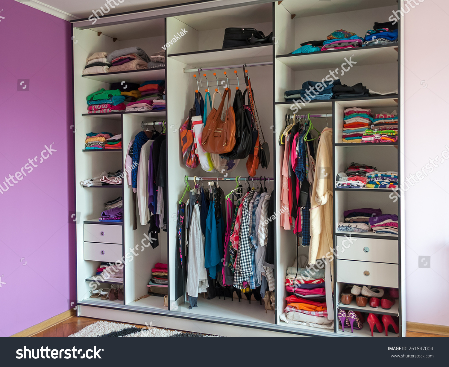 fbab41047fc Wardrobe Closet Clothes Shoes Bag One Stock Photo (Edit Now ...