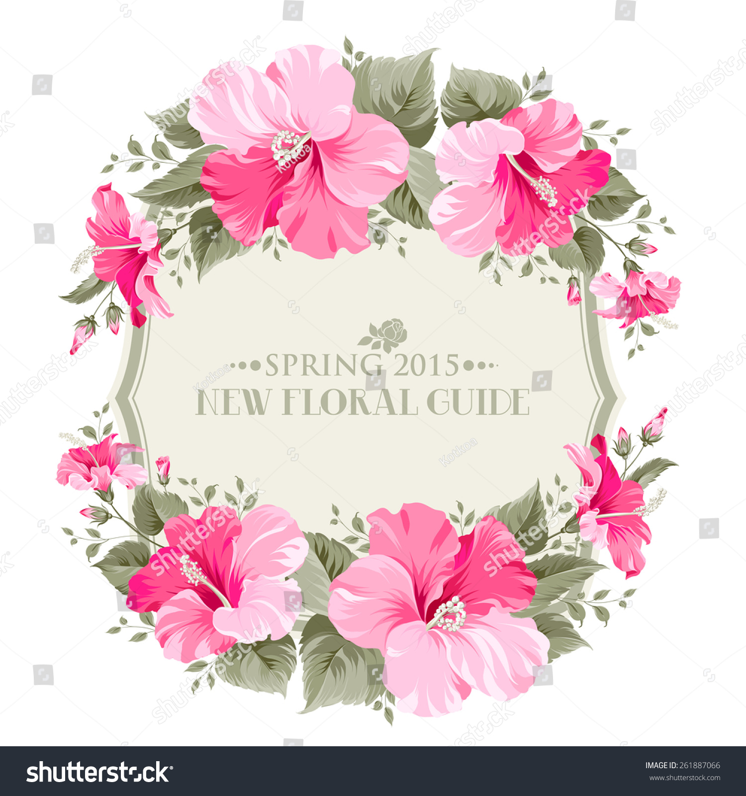 Wedding Invitation Card With Happy Holyday Text And Romantic Flowers Vector Illustration