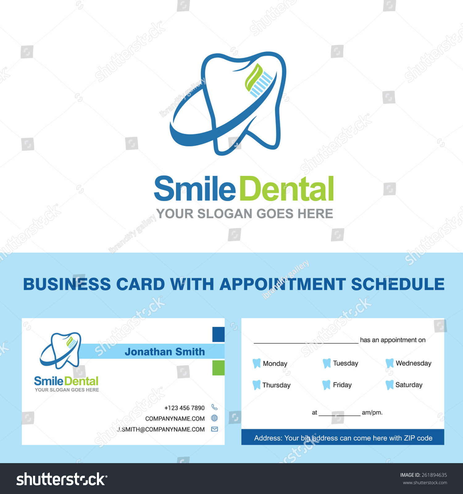 Abstract Vector Smile Dental Identity Concept Stock Vector ...