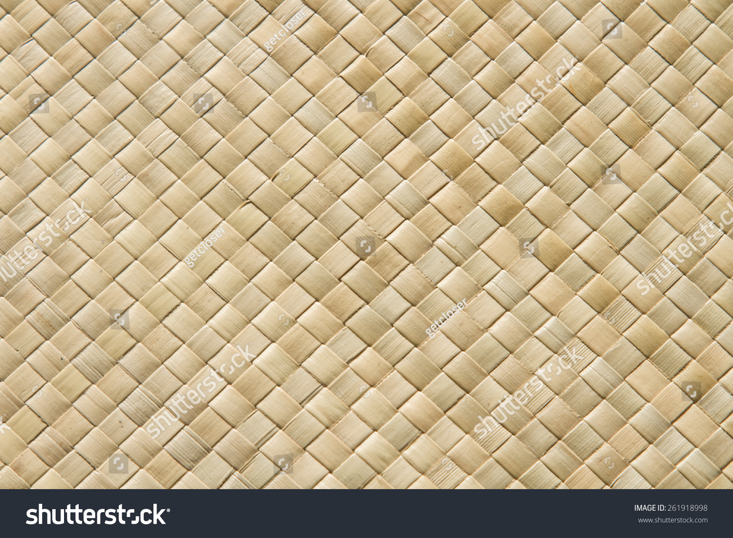 Traditional Polynesian Pandanus weaving, closeup of a woven mat | EZ ...
