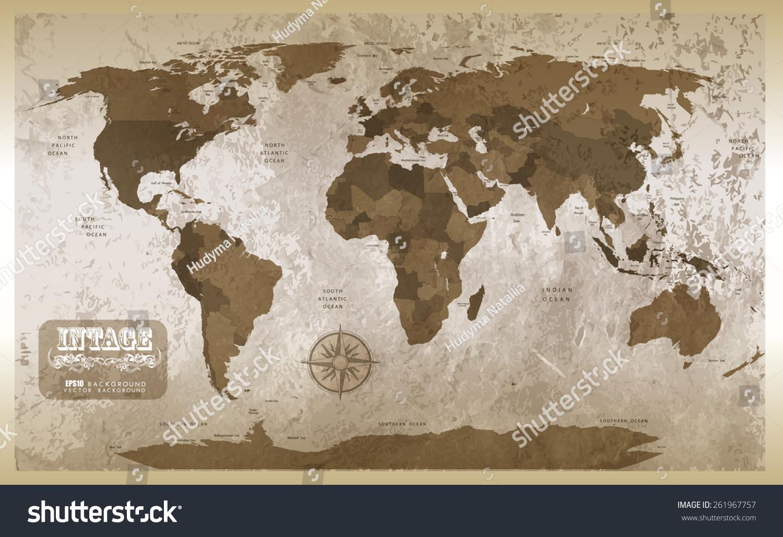 Grunge Map Background Illustration Stock Illustration - Us map redrawn background