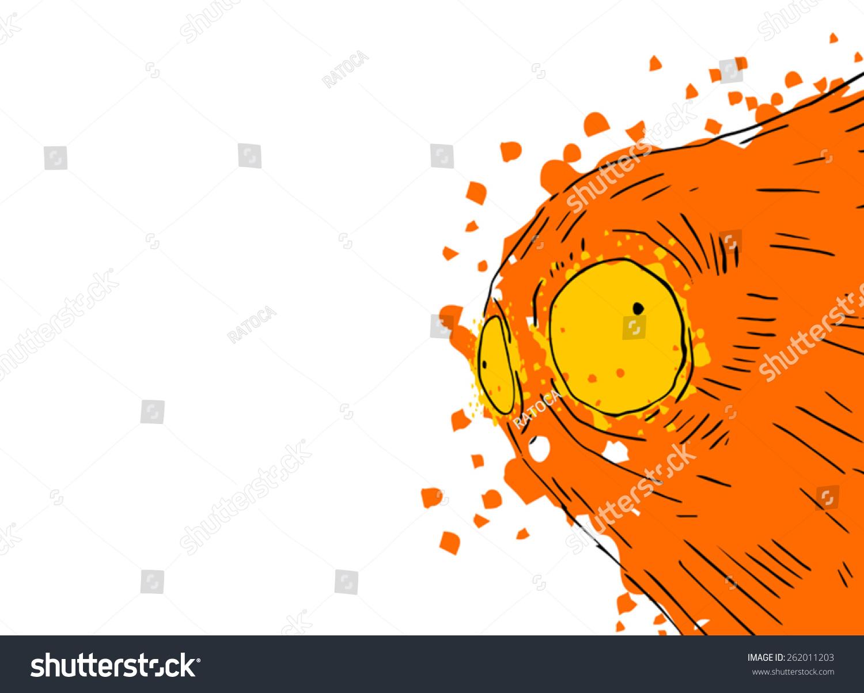 Creative Monster Face Draw Stock Vector 262011203 Shutterstock