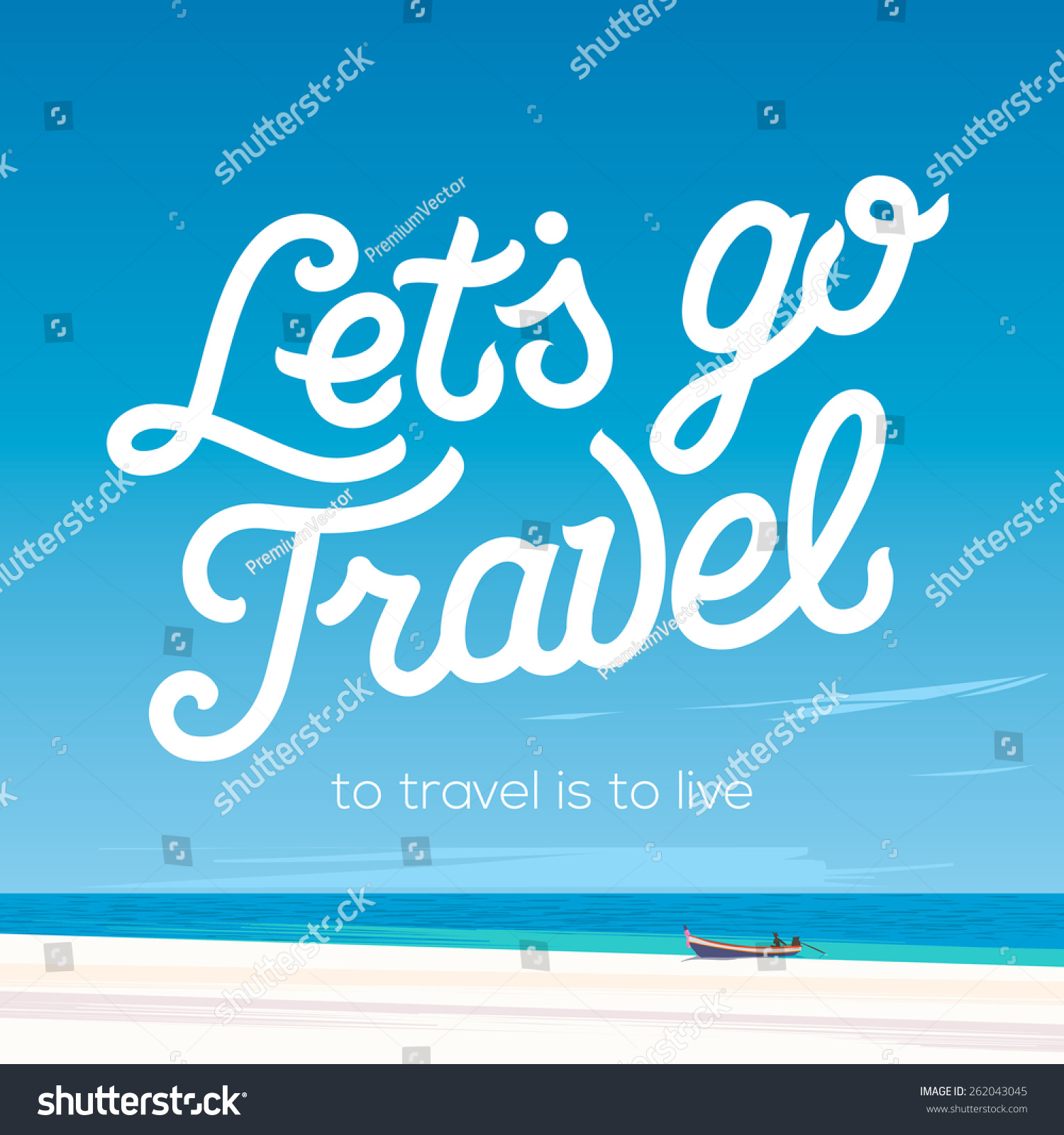 Go Travel Vacations: Lets Go Travel. Vacations And Tourism Concept. Tropical