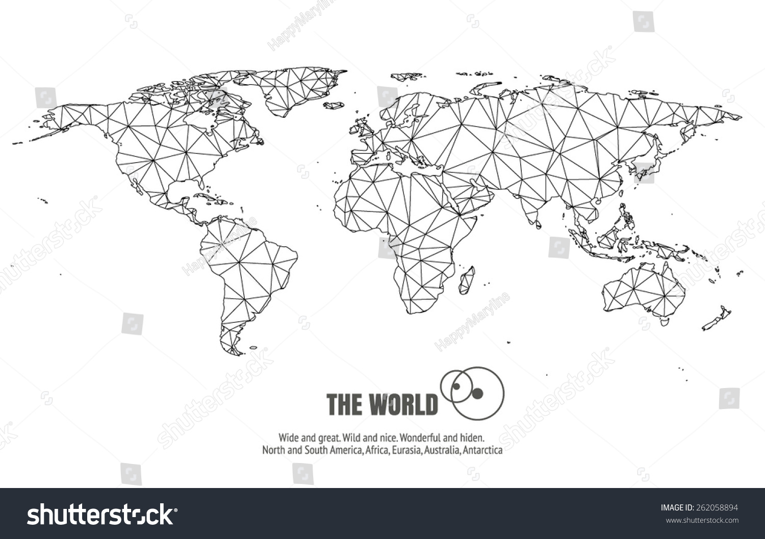 Vector world triangle map stock vector 262058894 shutterstock vector world triangle map gumiabroncs Image collections