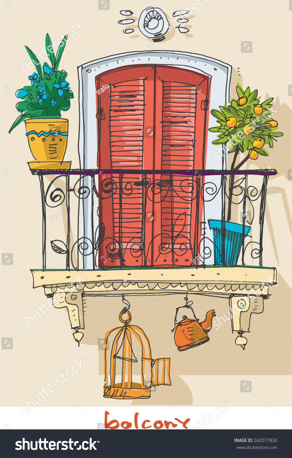 Cartoon balcony www.galleryhip.com - the hippest pics.