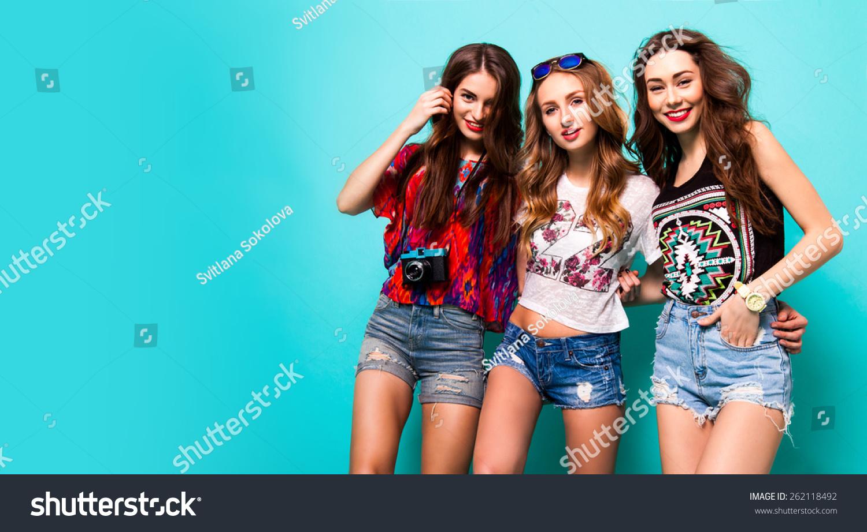 Фотографии трёх девушек друзей вместе 6 фотография